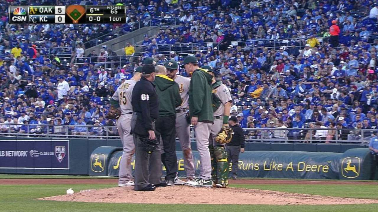 Pair of Jesses combine on A's shutout of Royals