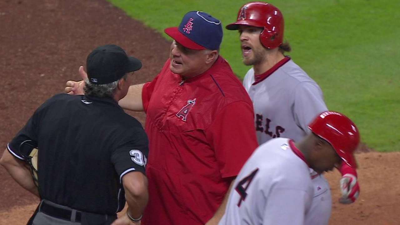 Cowgill ejected in 7th