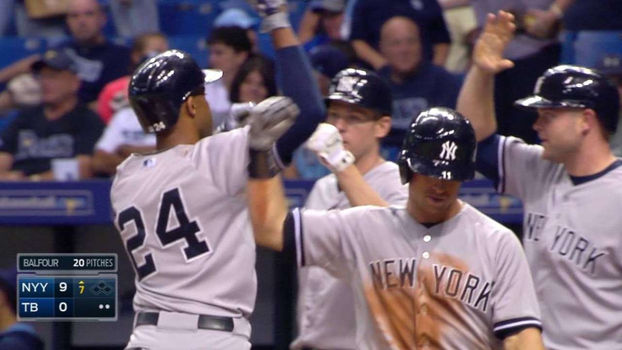 Seventh heaven: Yanks erupt with Tanaka dealing