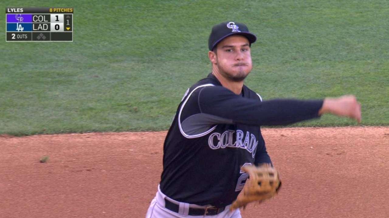 Sore wrist keeps Arenado out against Padres