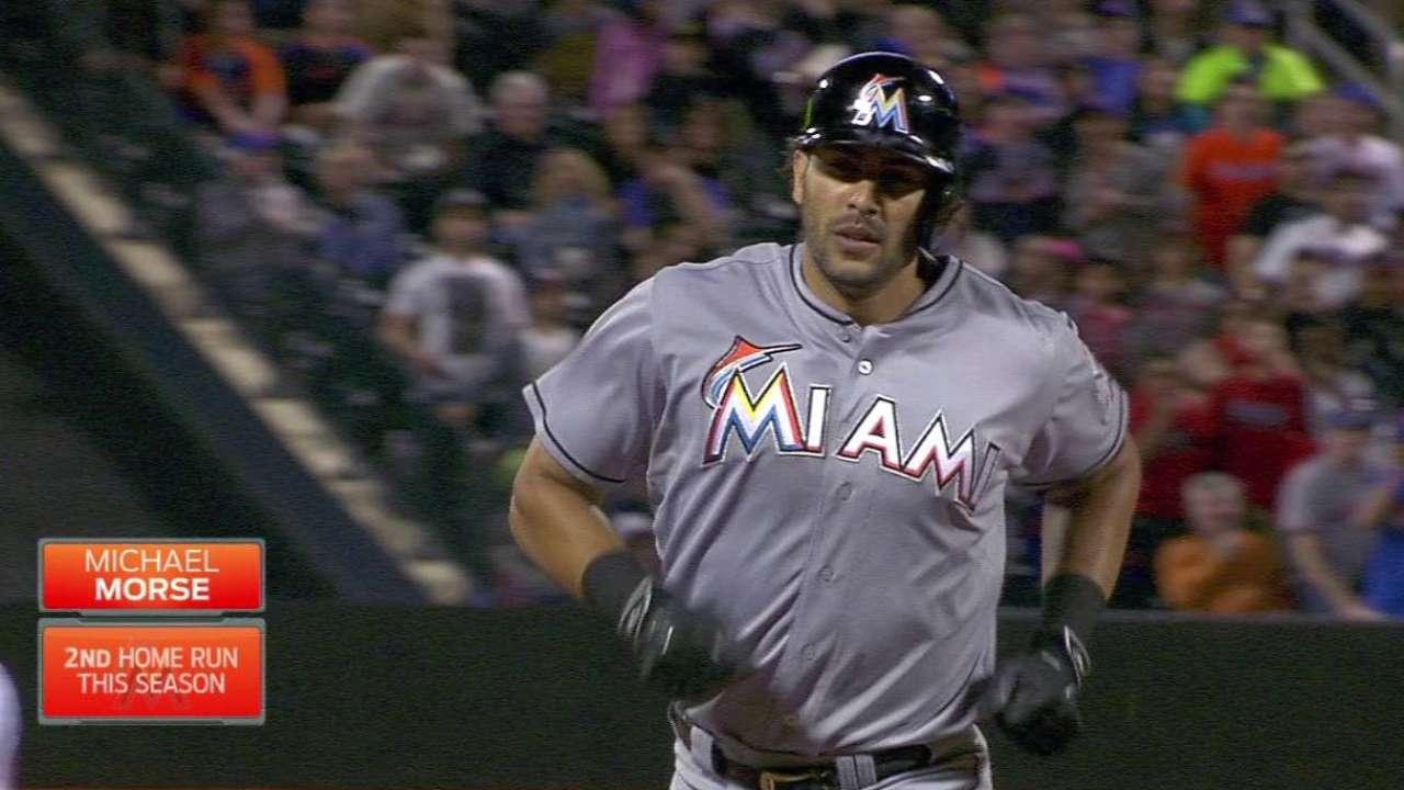 Morse's solo home run