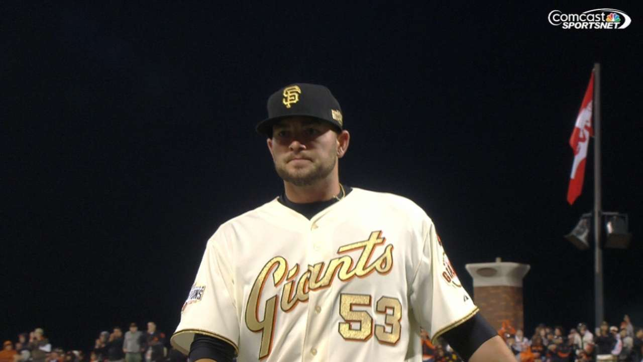 Giants end losing skid behind dominant Heston