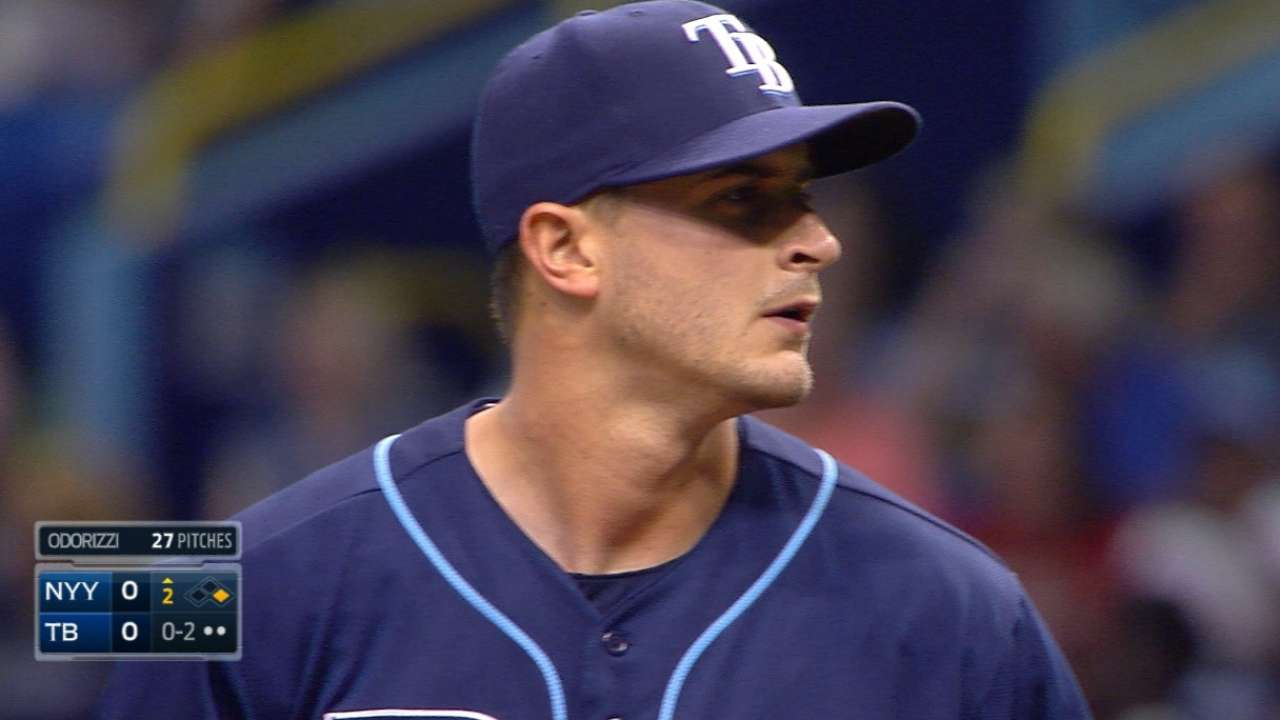 Walks prove costly for Odorizzi, ending duel with Tanaka