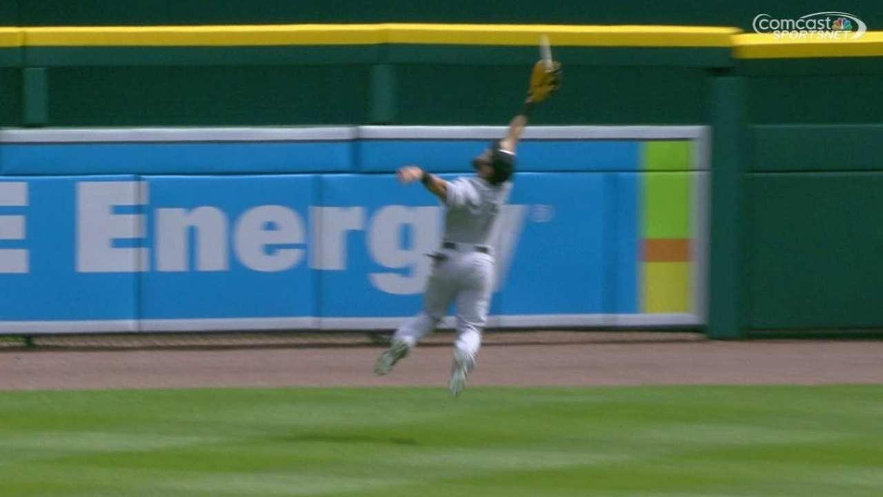 Eaton's nice running catch