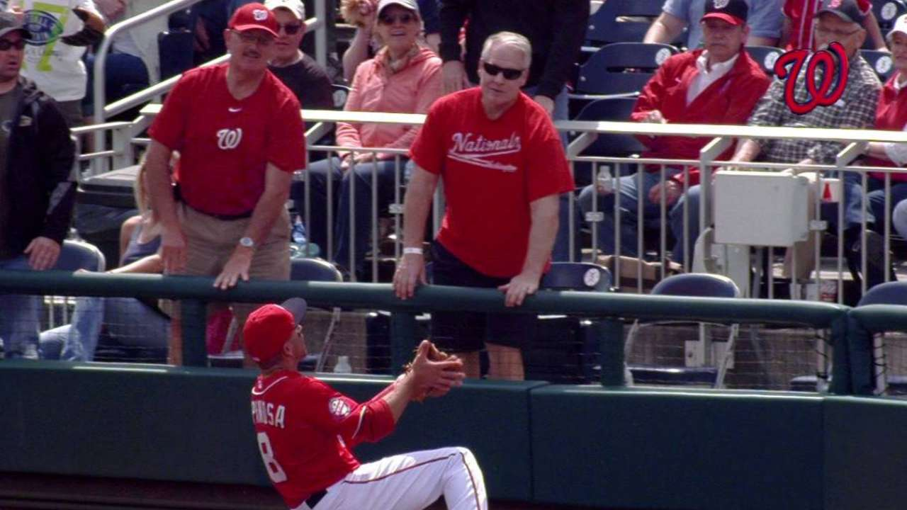 Espinosa's sliding grab shows his glove versatility
