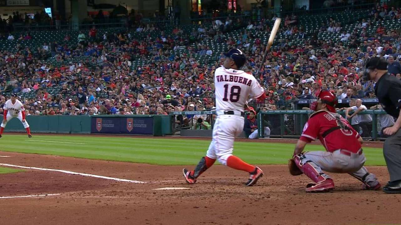 Valbuena displaying home run stroke Astros expected