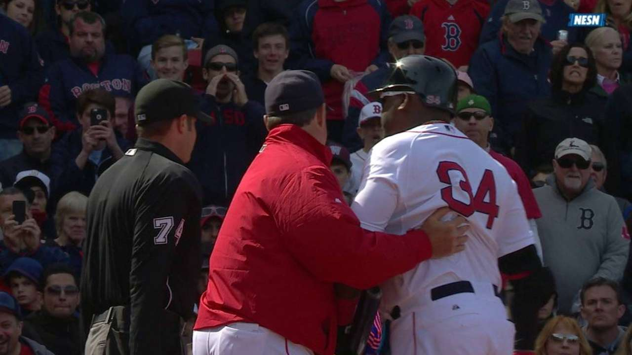 Ortiz gets thrown out