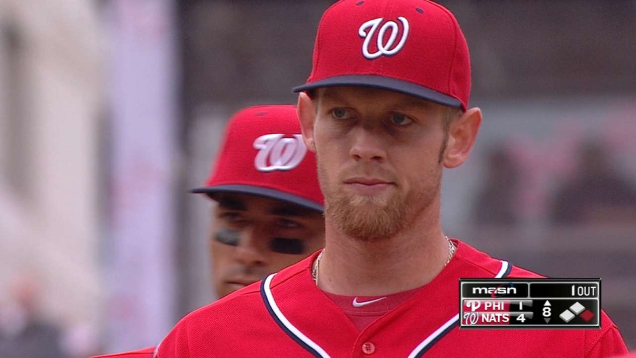 Changeup command fuels Strasburg's dominant outing