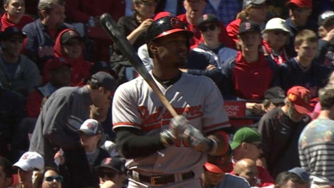 Jones' big day trumps Hanley's as O's beat Red Sox