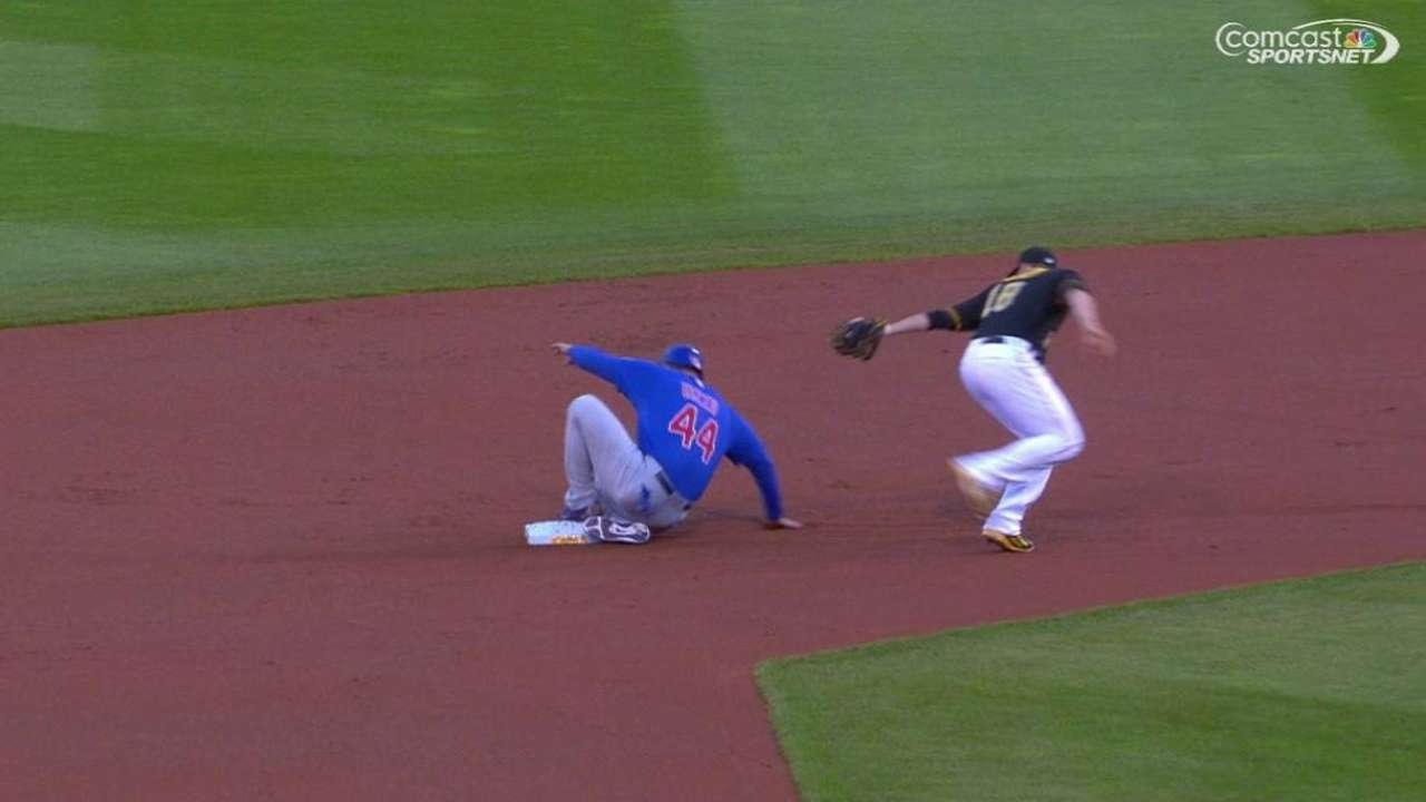 Rizzo steals second