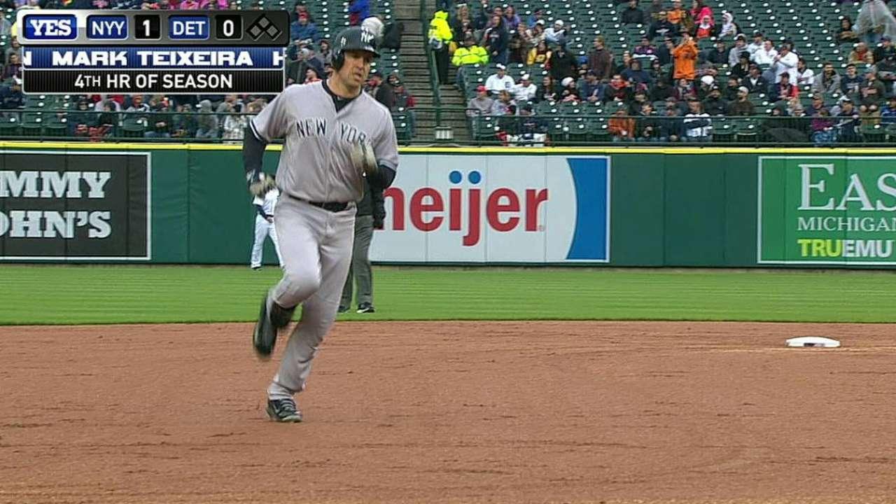 Teixeira's solo home run