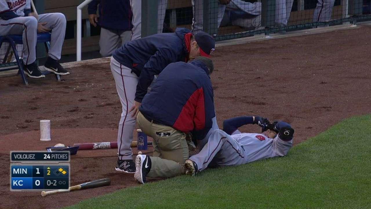 Suzuki avoids injury after being struck on foot