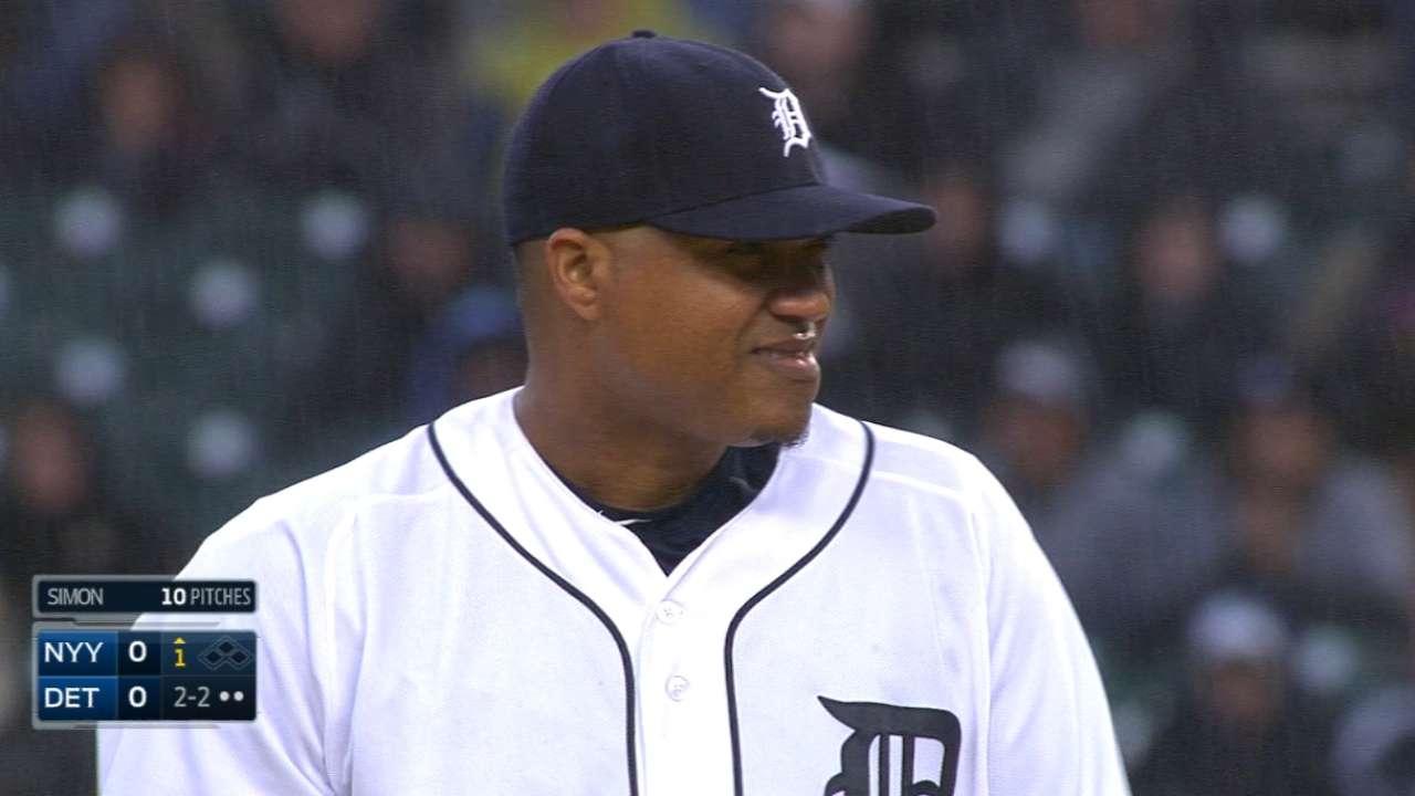 Tigers rally late to reward dominant Simon