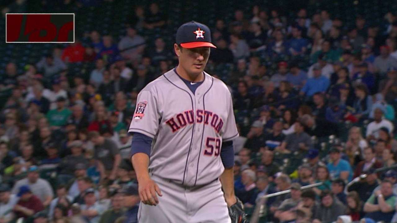 Astros call up red-hot Hoes, option Wojciechowski