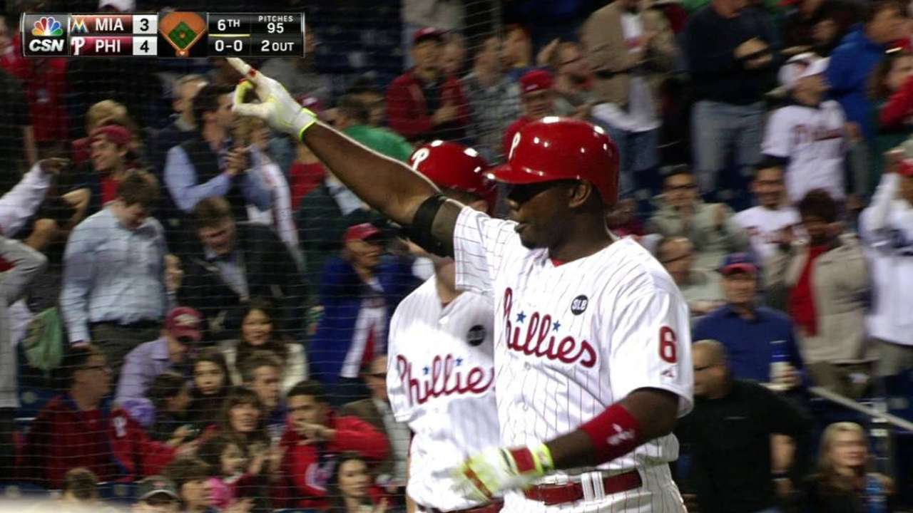 Howard, Phillies power up, rally past Marlins
