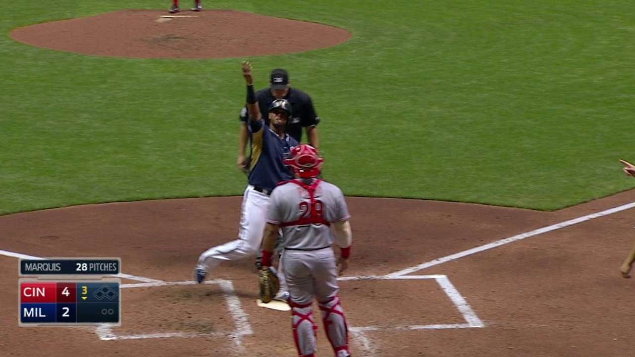 Maldonado's two-run homer