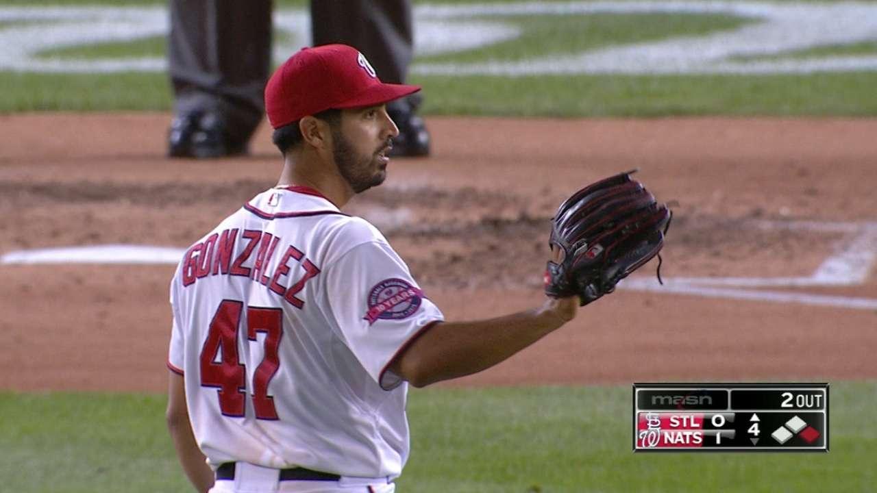Gonzalez shuts down Cards