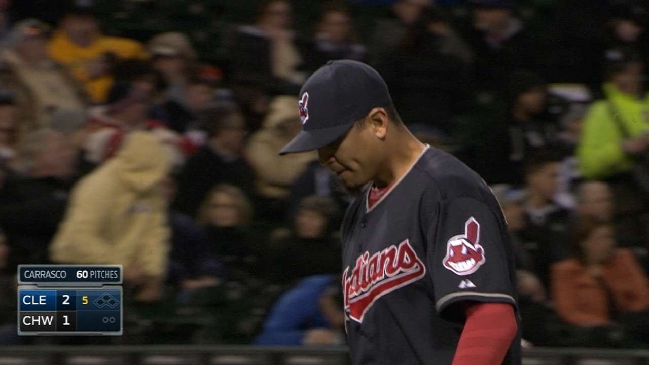 Carrasco fearless in getting back on mound