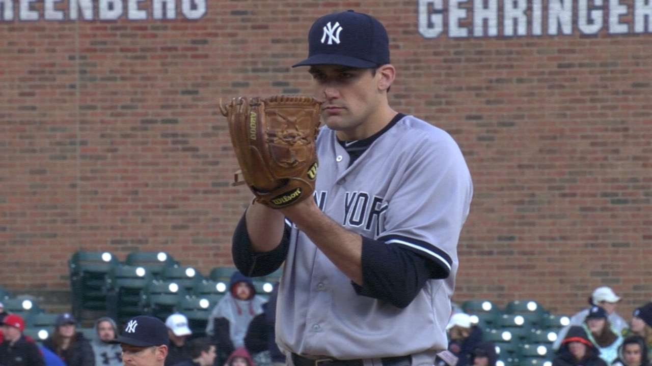Eovaldi topples Tigers for 1st win with Yankees