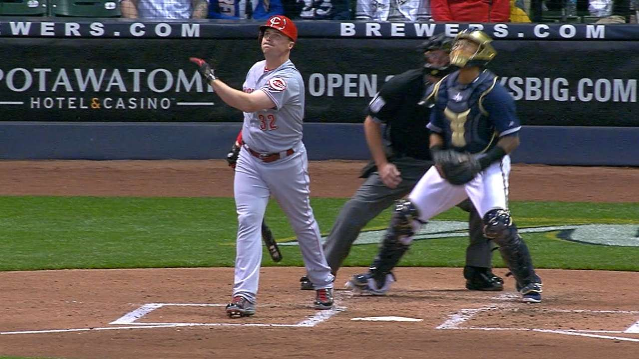 Miller Park a launching pad as Reds outslug Crew