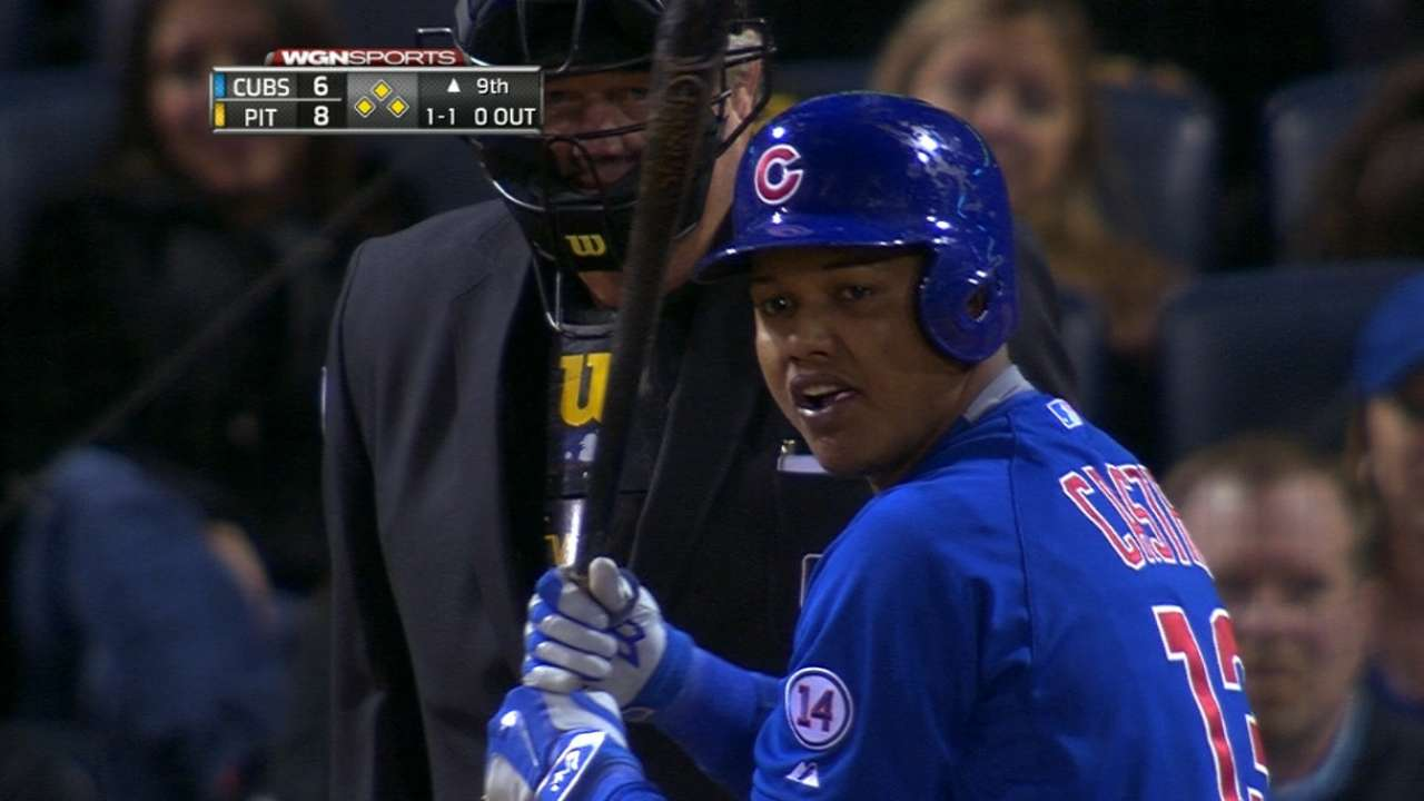 Castro's four RBIs lead Cubs in win over Bucs