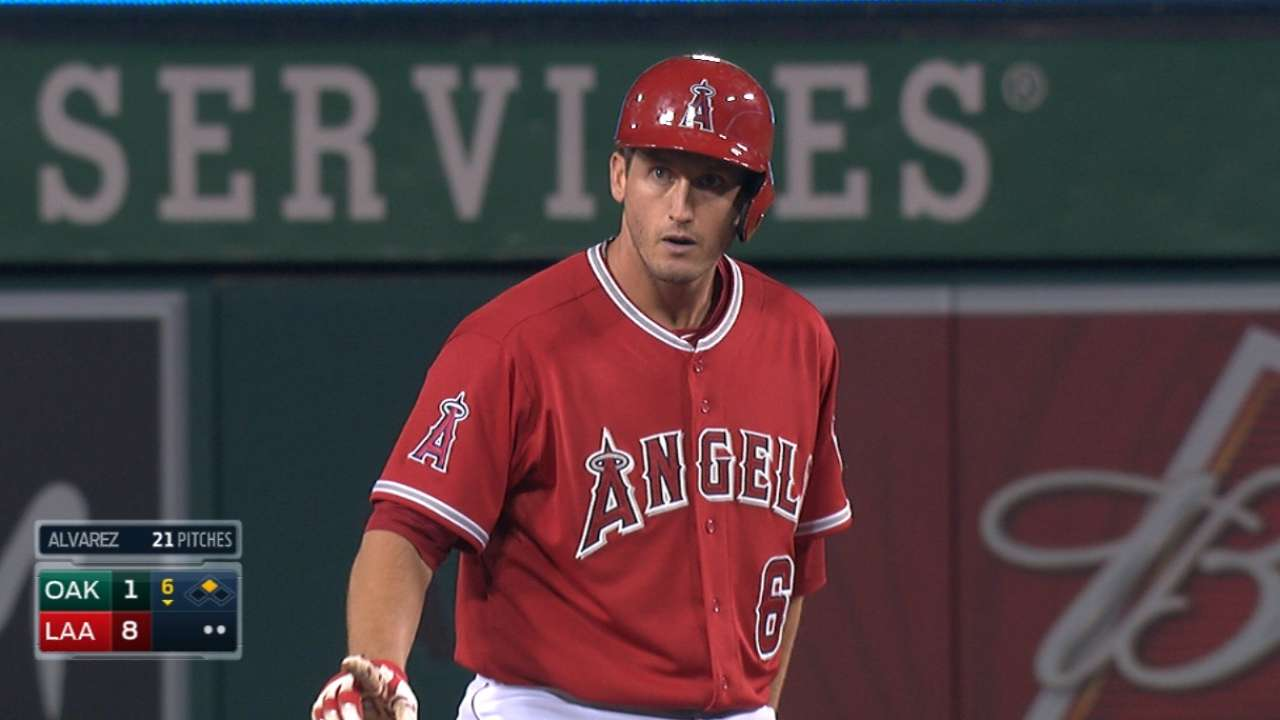 Angels score six in the 6th