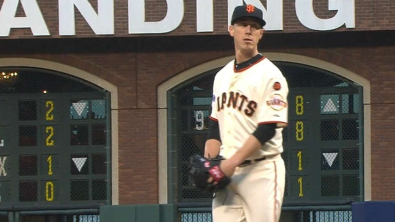 Giants to keep rotation intact after rainout
