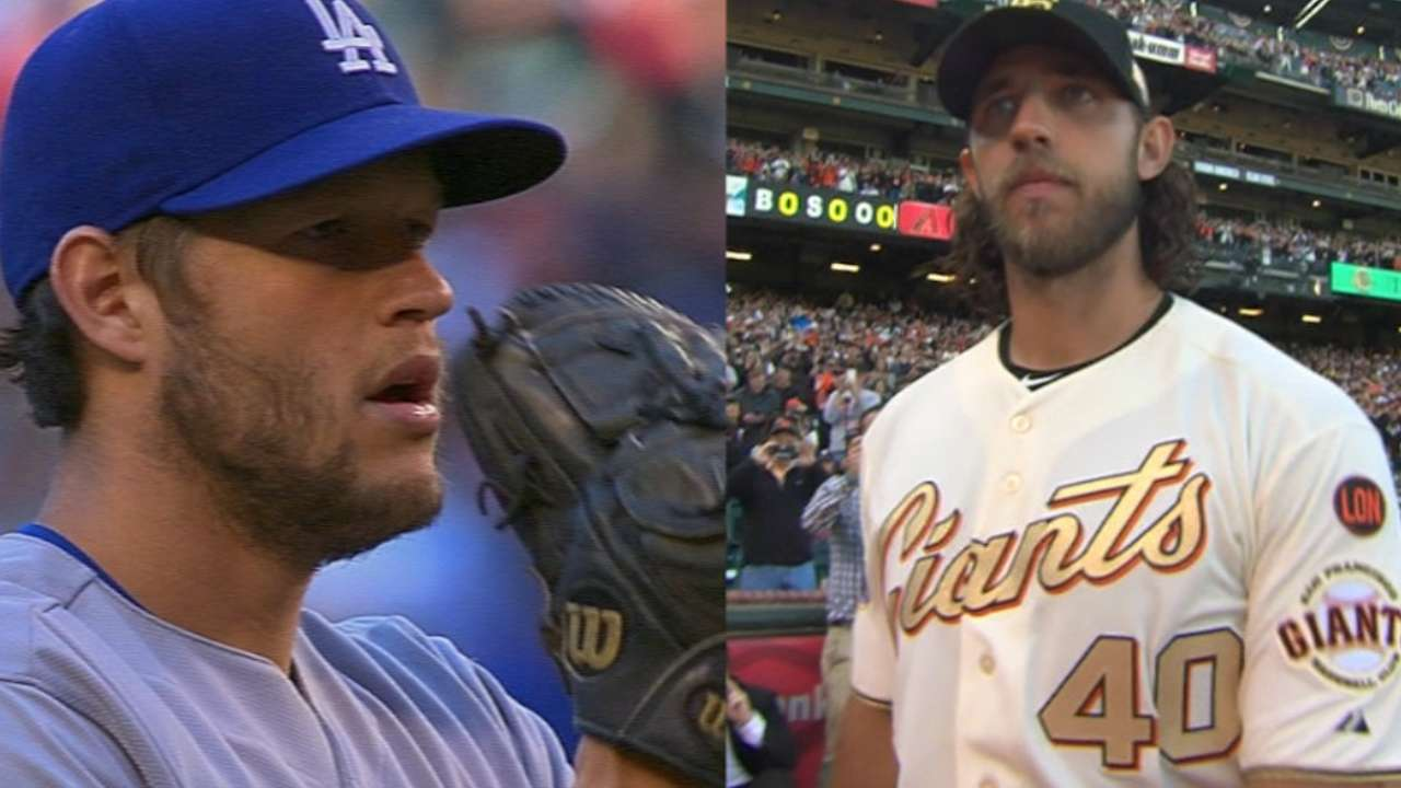 In pitched battle, Bumgarner and Kershaw to take their cuts