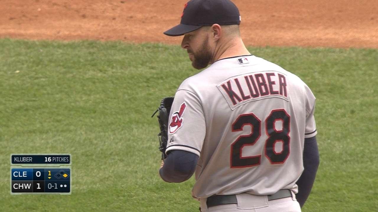Runs scarce, but Kluber takes responsibility