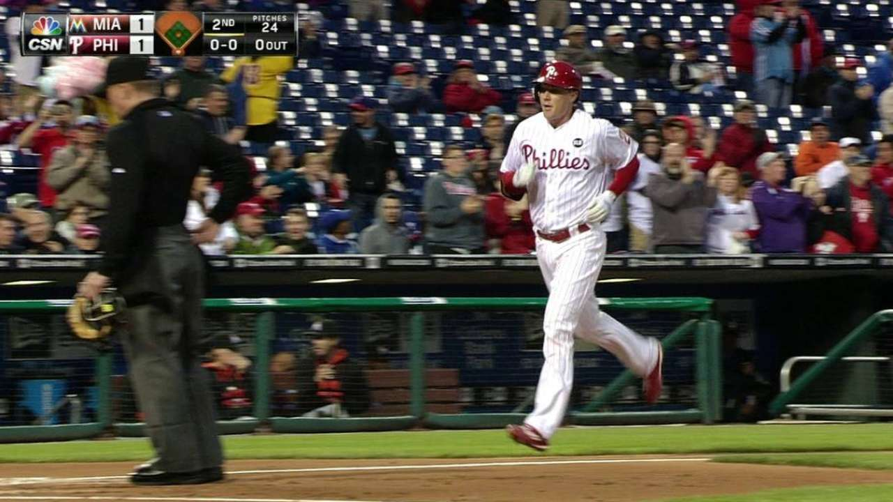 Phillies recall Asche after outfield conversion