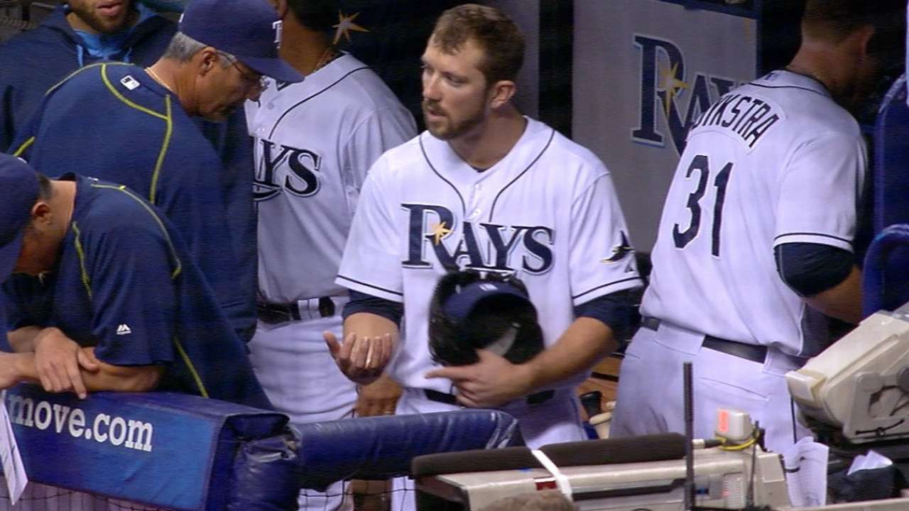 Souza feels better after dealing with forearm cramp