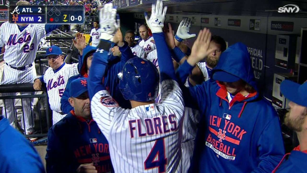 Flores' solo shot ties game