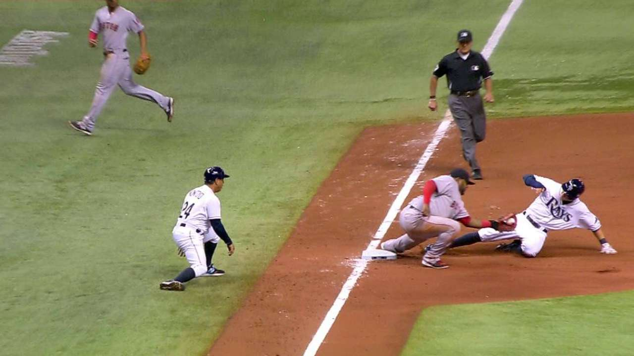 Red Sox's double play confirmed
