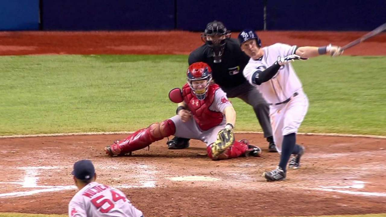 Elmore makes history with homer in first at-bat