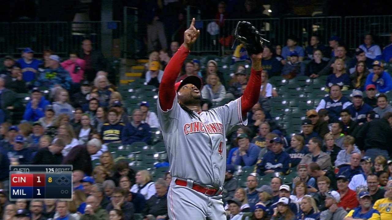 Cueto at his best in picking up first win