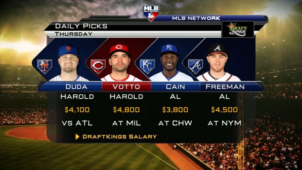 DraftKings picks: Votto, Duda, Sale