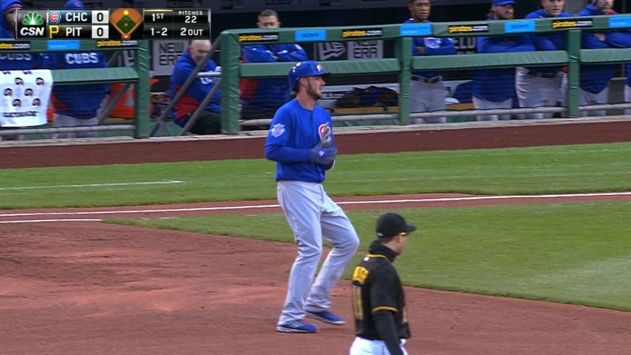 Bryant just misses home run