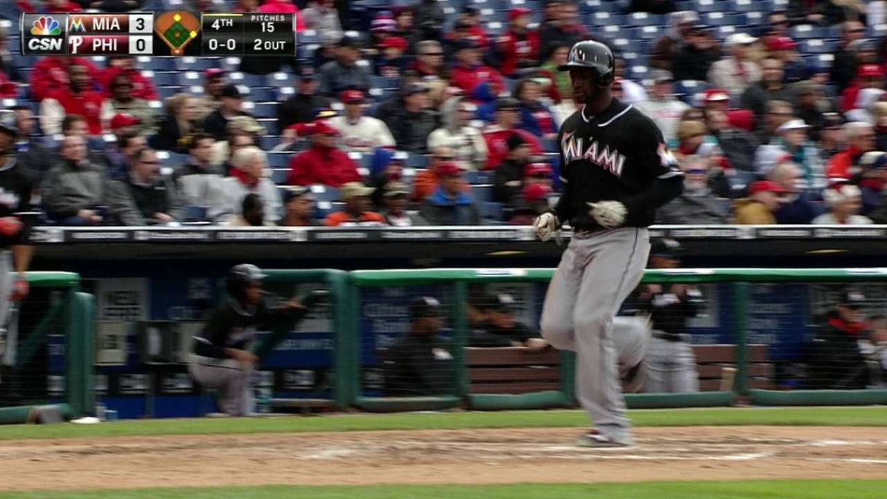 Prado provides clutch hits, helps out hot Hechavarria