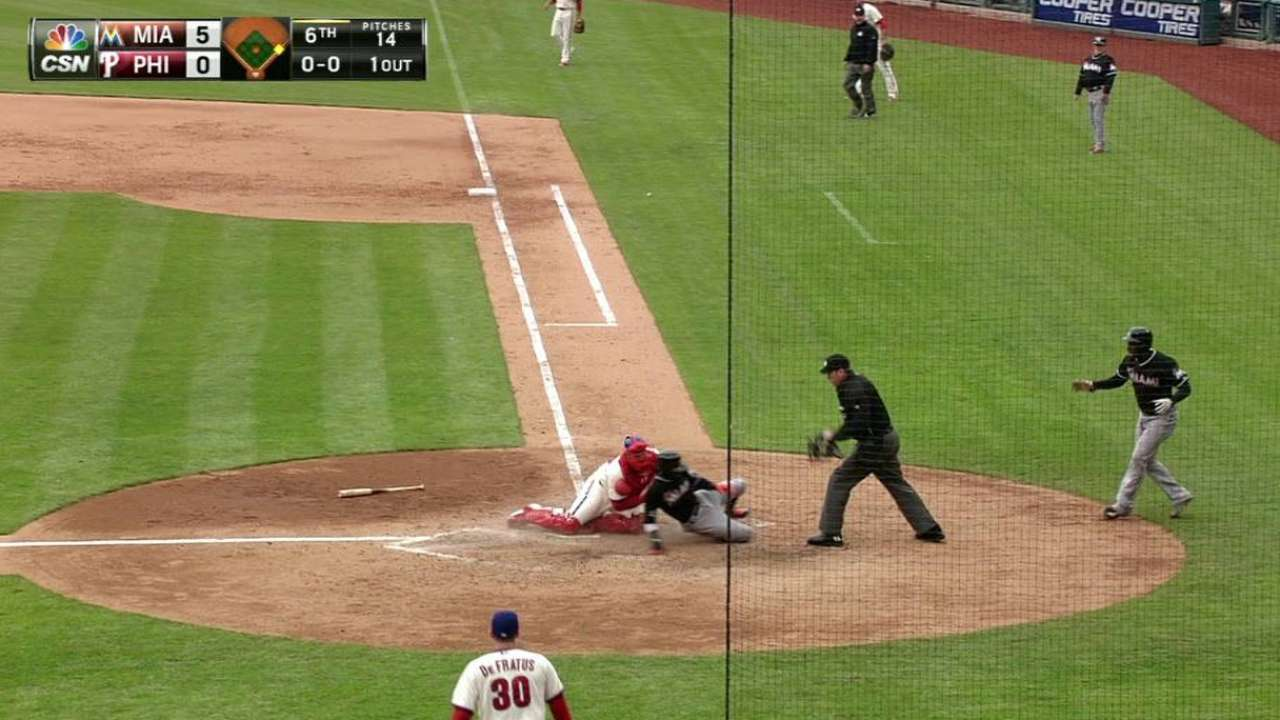 Prado's two-run double