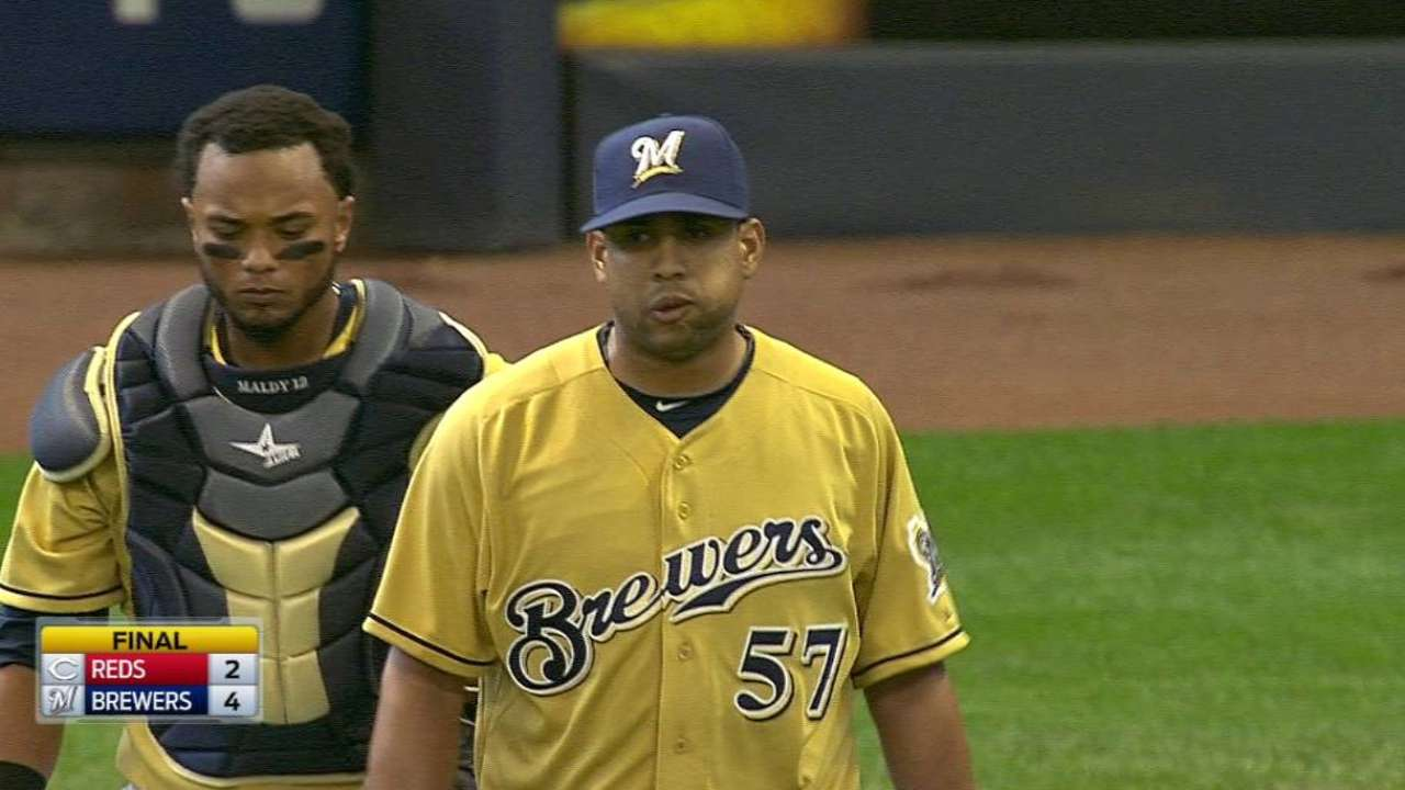 Brewers take the win over Reds