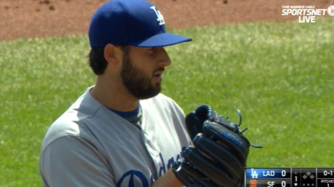 Bolsinger makes case to remain in Dodgers' rotation
