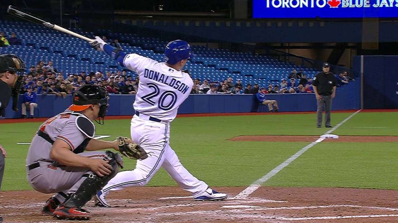 Donaldson's long two-run homer
