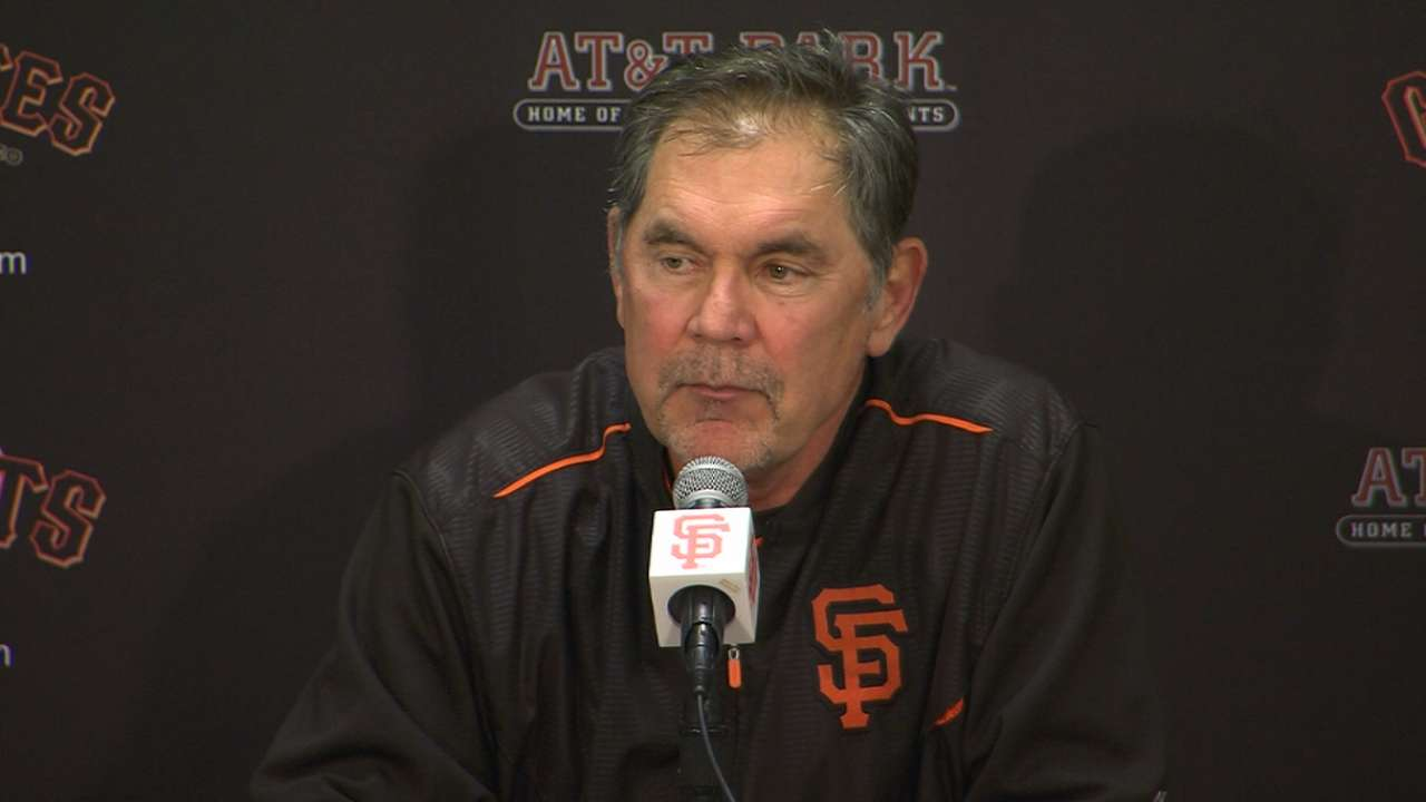 Bochy on series sweep of Dodgers