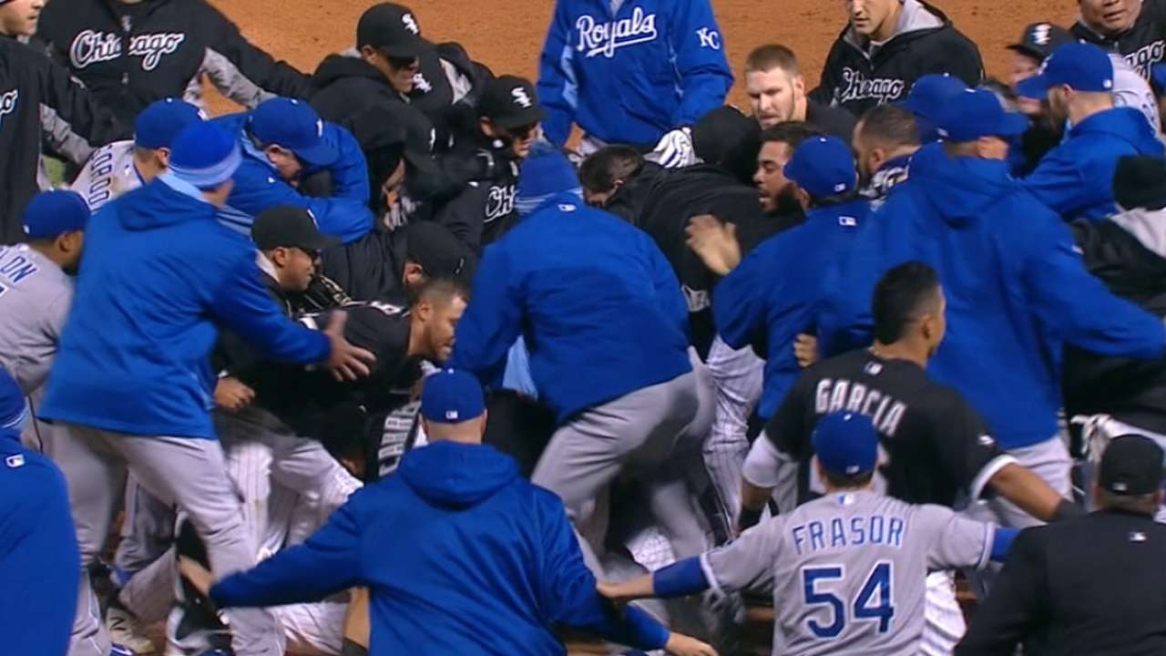 Royals, White Sox on altercation
