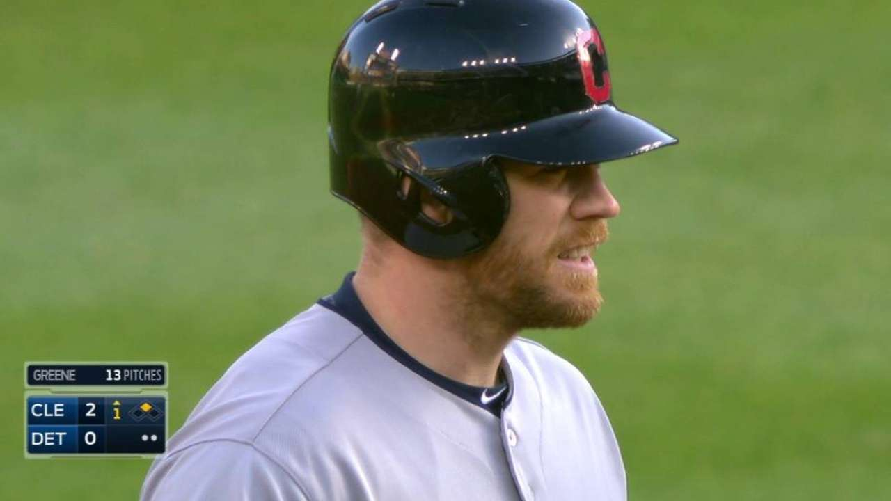 Moss Hits 2 HRs and Drives in 7 as Indians Rout Tigers 13-1