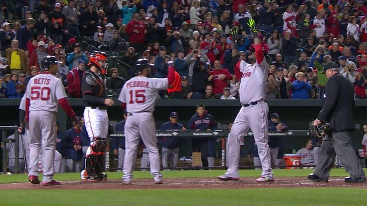 Ortiz, Ramírez brillan y Boston le pega a Baltimore