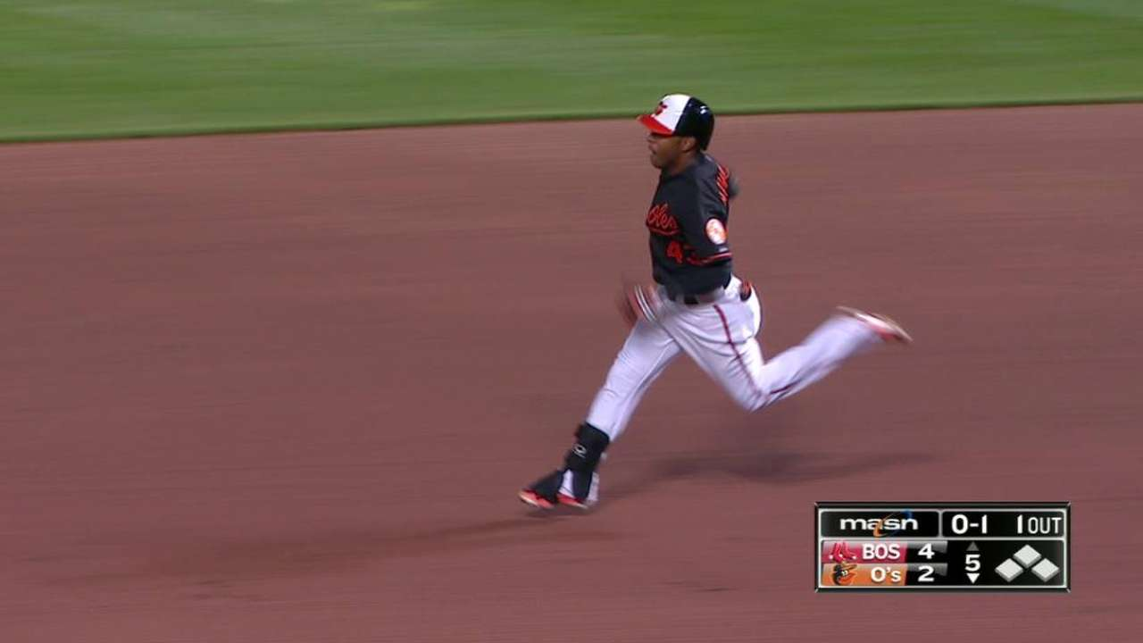 Navarro's first Major League hit