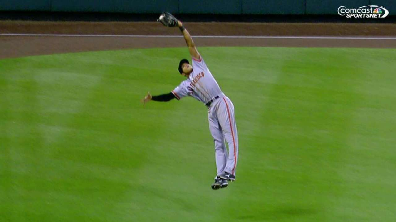 Maxwell's leaping catch