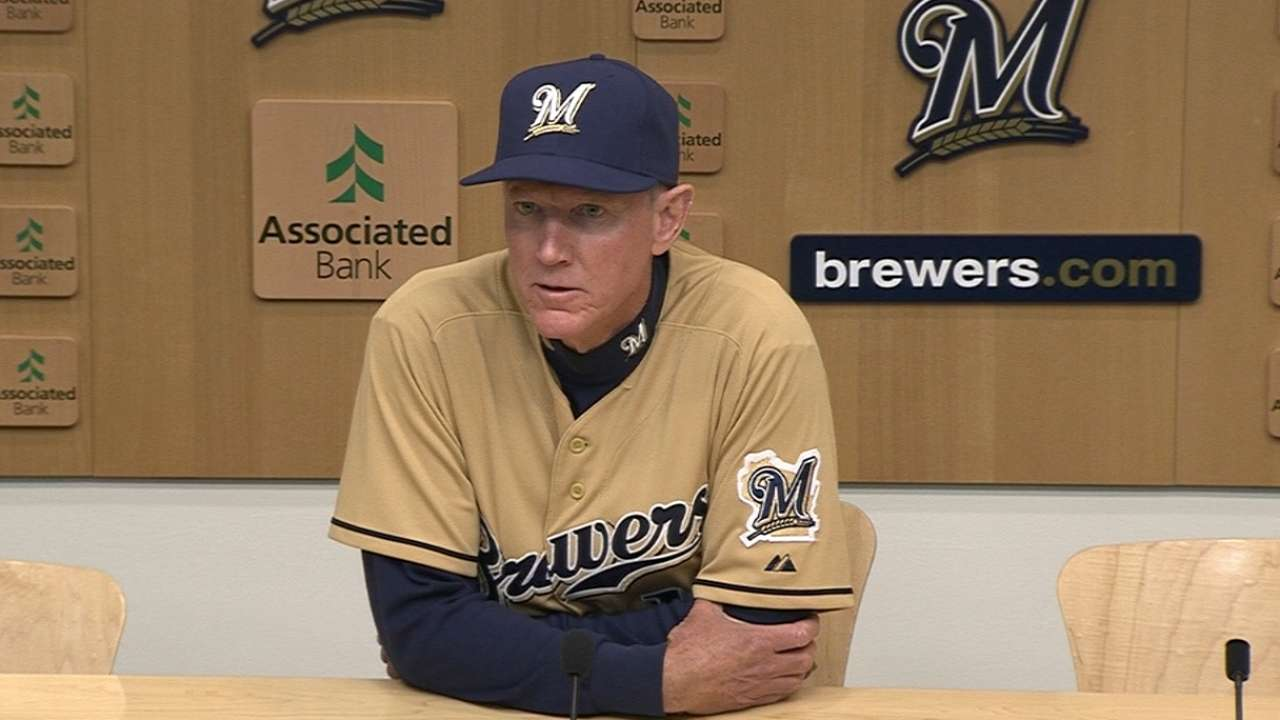 Roenicke, Brewers trying to find more consistency