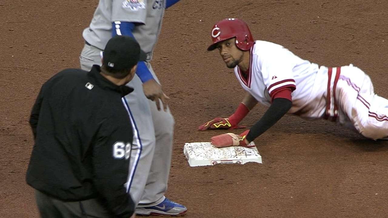 Hamilton swipes three bases